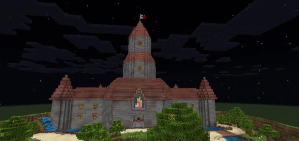 Замок Тоудстул из марио для майнкрафт ПЕ