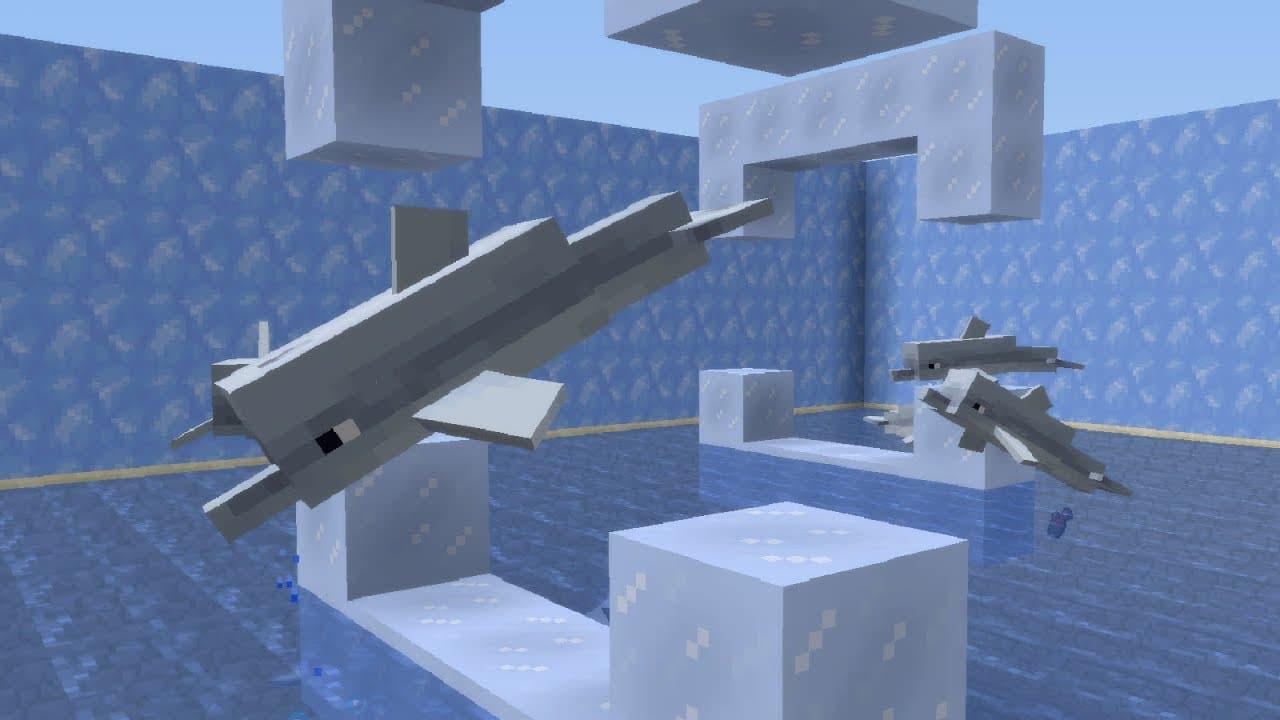 фото: Дельфины в Майнкрафт 1.4.4