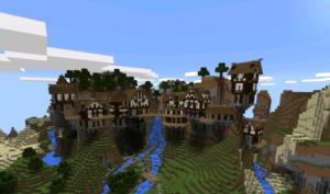 Горная деревня в Майнкрафт ПЕ