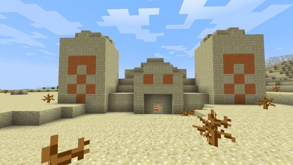 Храм пустыне в майнкрафт ПЕ 0.13