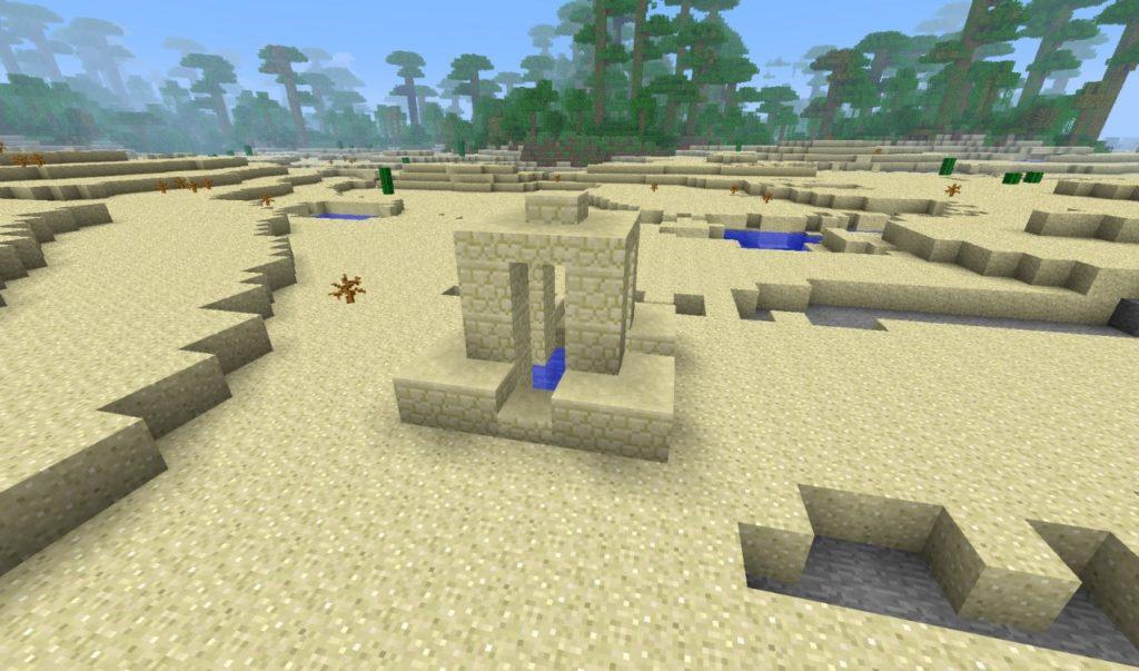 Колодец в пустыне в Майнкрафт ПЕ 0.13
