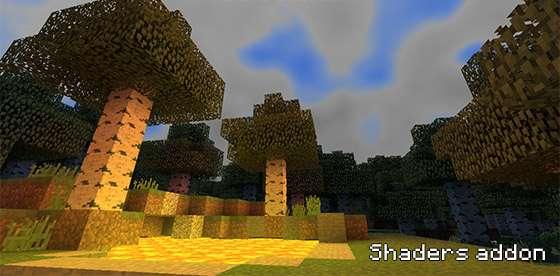 шейдеры для minecraft pe