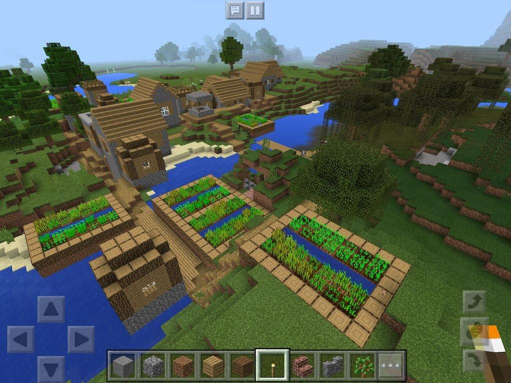 майнкрафт сиды на деревню #6