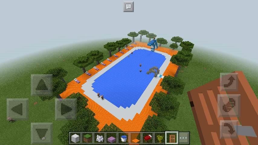 пляжем картинки как построить бассейн в майнкрафте приложения