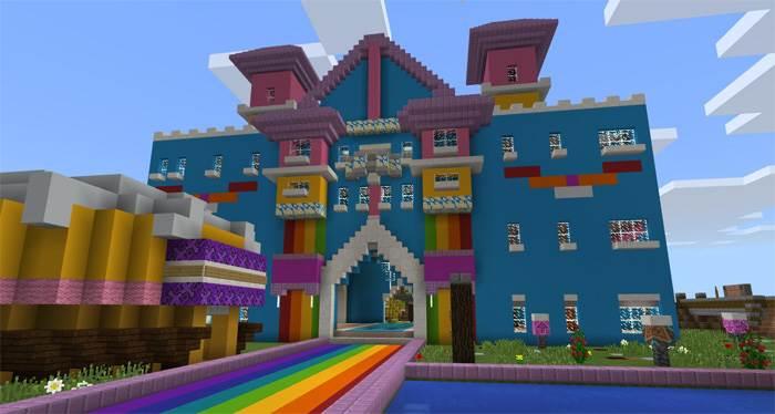 Цветной мир в Майнкрафт ПЕ!