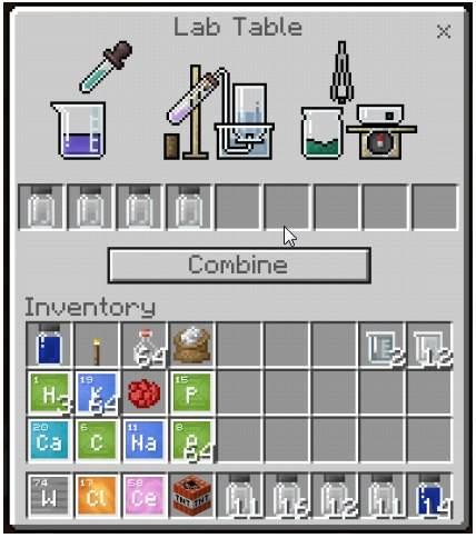 Химия в Minecraft Bedrock