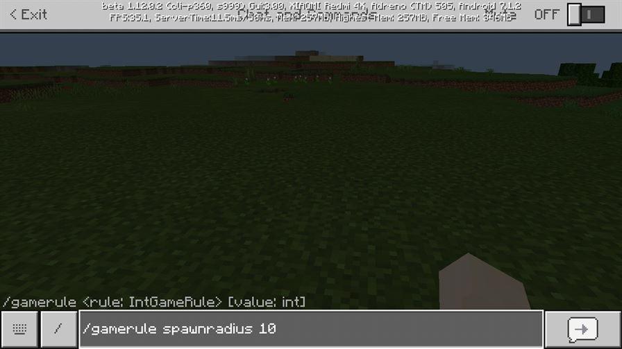 Спавн в Майнкрафт 1.12.0.2