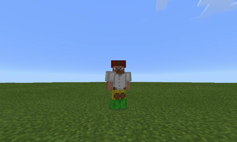 Покраска кожаной брони в Minecraft Pocket Edition 0.14.1