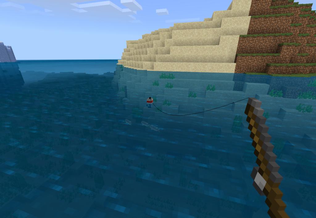Рыбалка в майнкрафт ПЕ
