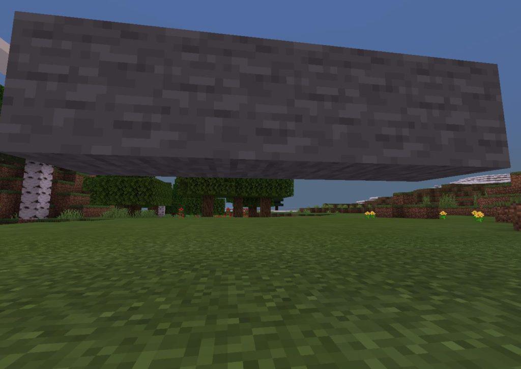 Исправления бага с порящим блоком и травой в Майнкрафт ПЕ