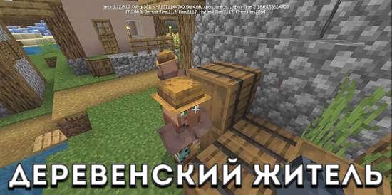 Деревенский житель в Minecraft PE 1.12.0.13