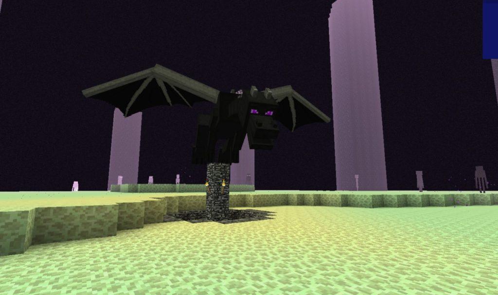 Дракон в Майнкрафт ПЕ 1.0.3 на Андроид