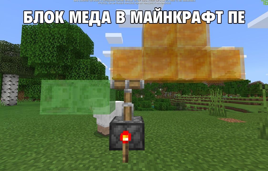Блок меда в Майнкрафт ПЕ 1.14.0.50