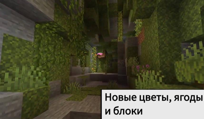 Густые пещеры Minecraft Java 1.17