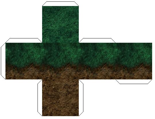 Подборка схем minecraft из бумаги — трава