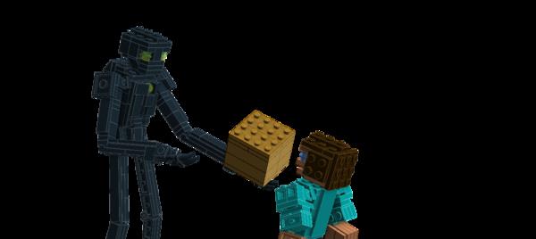 Minecraft из бумаги: фигурка Эндермена