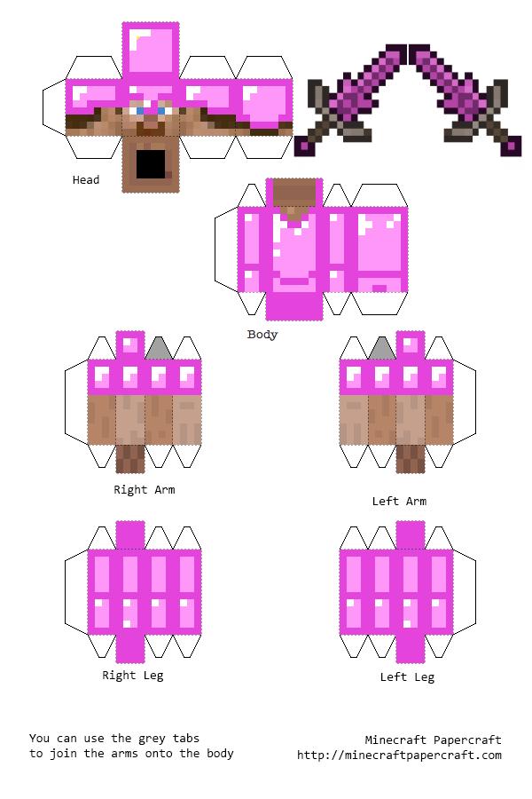 Схемы Minecraft из бумаги