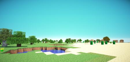 Абсолютно ровные карты для Minecraft PE 0.6.1