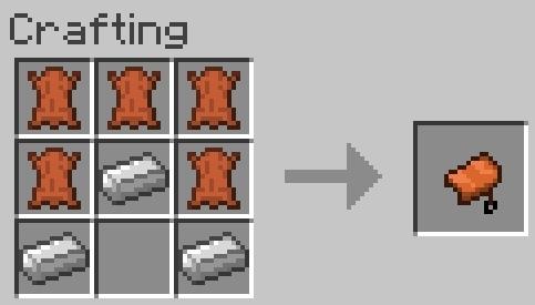 Как сделать седло в майнкрафте