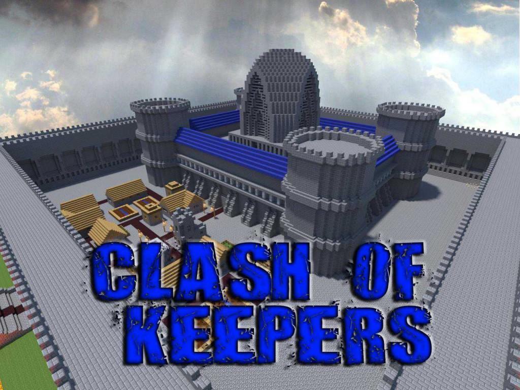 Карта Clash of Keepers для Майнкрафт PE 0.6.1