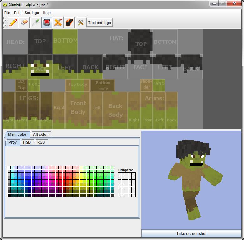 Как нарисовать скин для Minecraft — SkinEdit