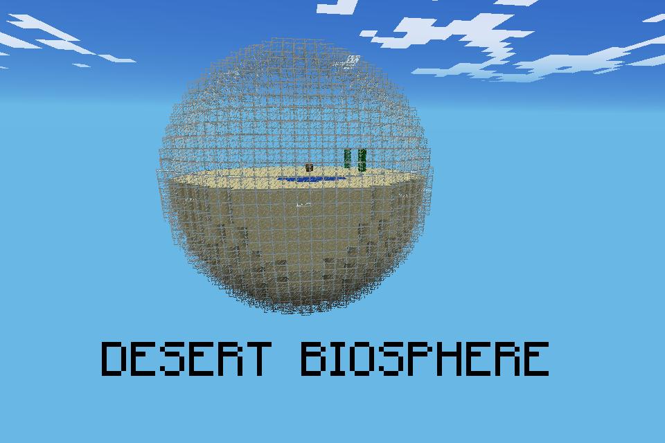 Карта на выживание для Майнкрафт 0.7.2 — Biosphere Survival