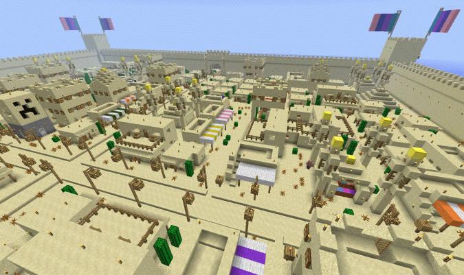 Mace 1.11.2 для Minecraft — генератор городов