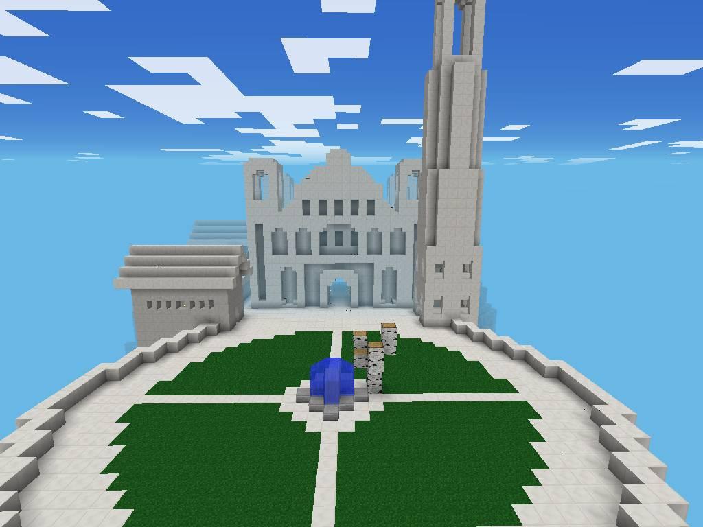 Карта Minas Tirith MegaBuild для Minecraft PE