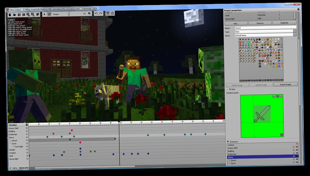 Mine Imator для Minecraft — создай свой фильм!