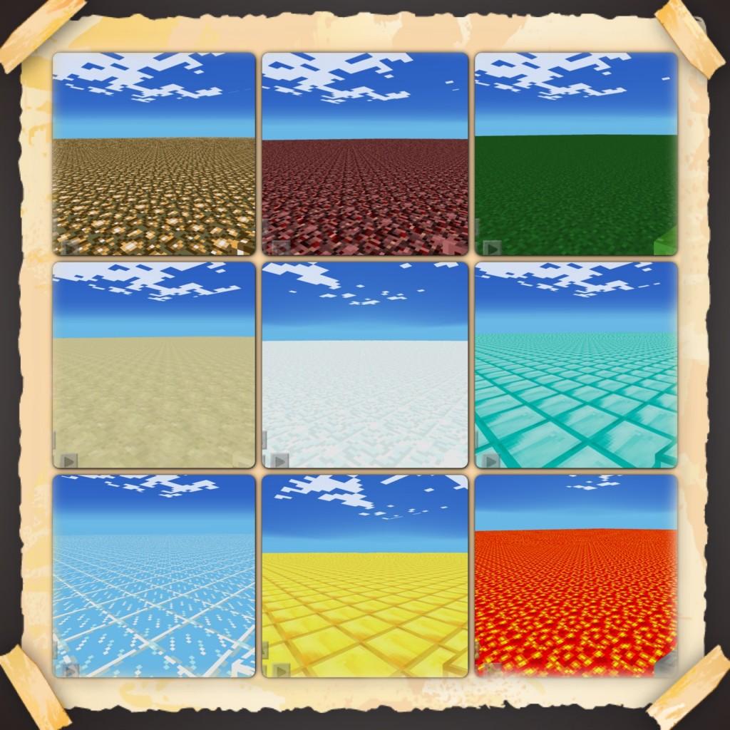 Сборник ровных карт для Minecraft PE Flat Maps Pack