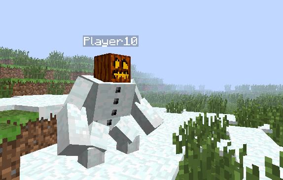 Скрипт «Снежный голем» для Minecraft PE 0.7.3