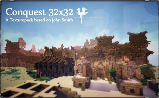 Отличный текстур-пак для Minecraft PE 0.7.5 — Conquest Pocket