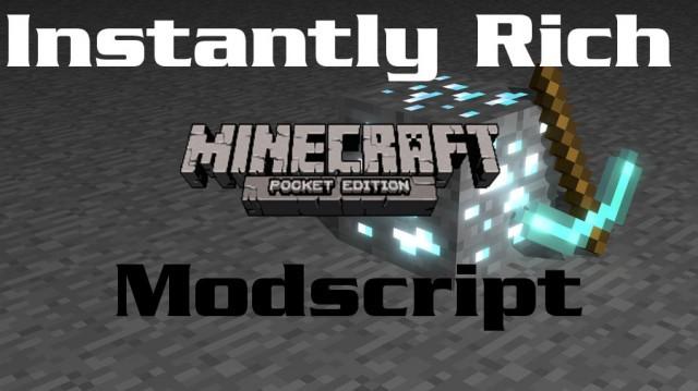 Скрипт на золото для Minecraft PE