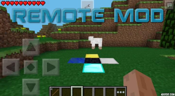 REMOTE MOD — геймпад в Minecraft