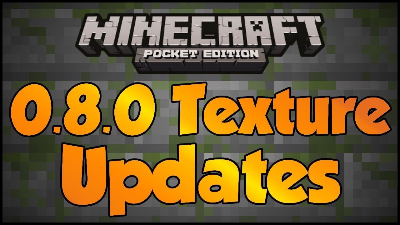 4 текстурпака для новой версии Minecraft PE 0.8.0