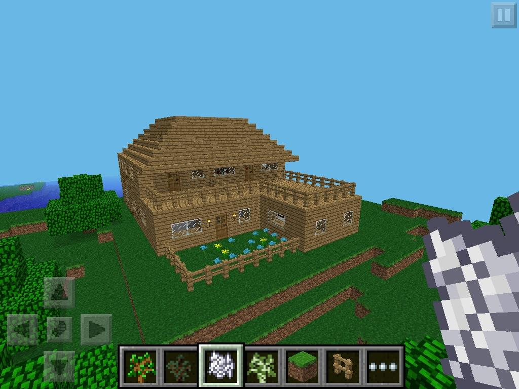 kak postroit dom v minecraft pocket edition