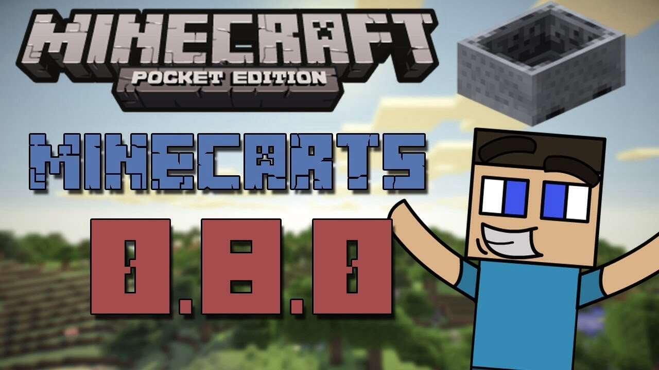 Как сделать очень быстрый лифт с вагонетками в Minecraft PE 0.8.0