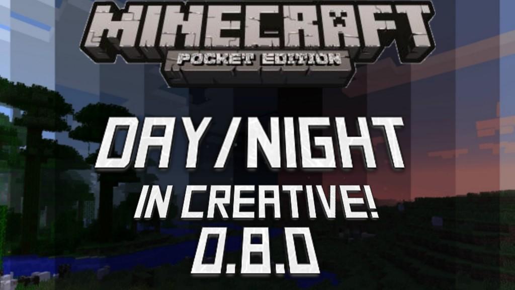 Как включить ночной режим в творческом режиме в Minecraft PE