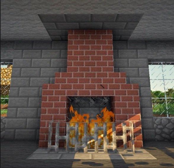 Как построить камин в Minecraft PE!