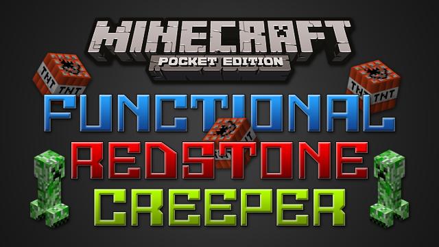 Карта «Functional Redstone Creeper» — крипер из редстоуна!