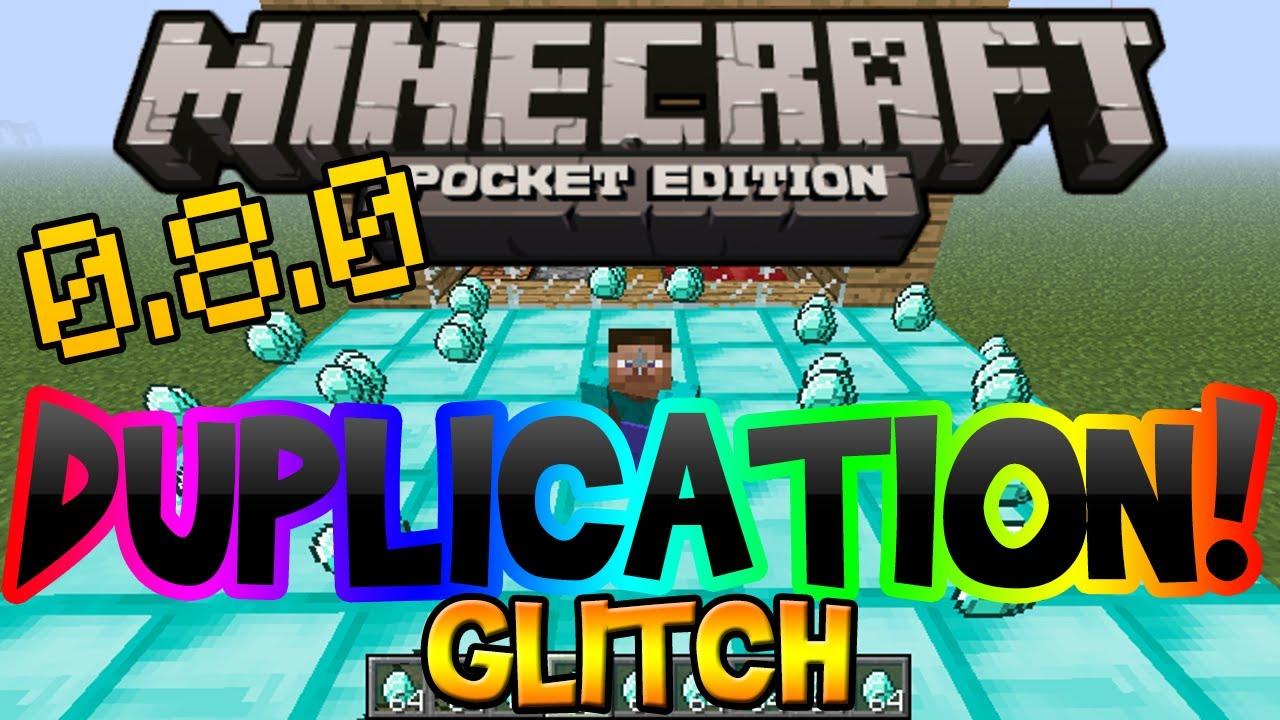 Копирование предметов с помощью двух игроков  в Minecraft Pocket Edition