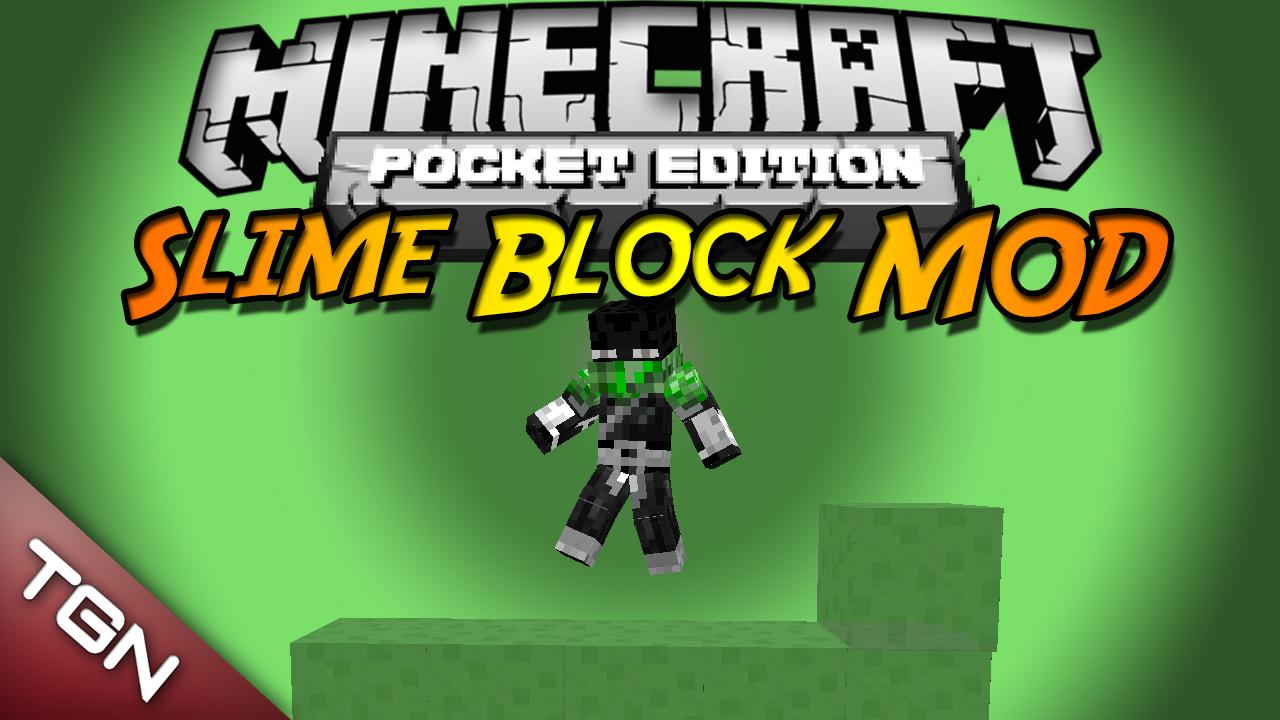 Мод «Блоки слизи» для MCPE 0.8.1