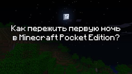 Как пережить первую ночь в игре Minecraft Pocket Edition?