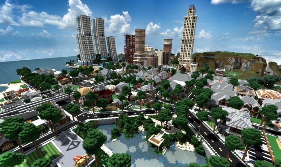 Как в Майнкрафте сделать город с программой Mace