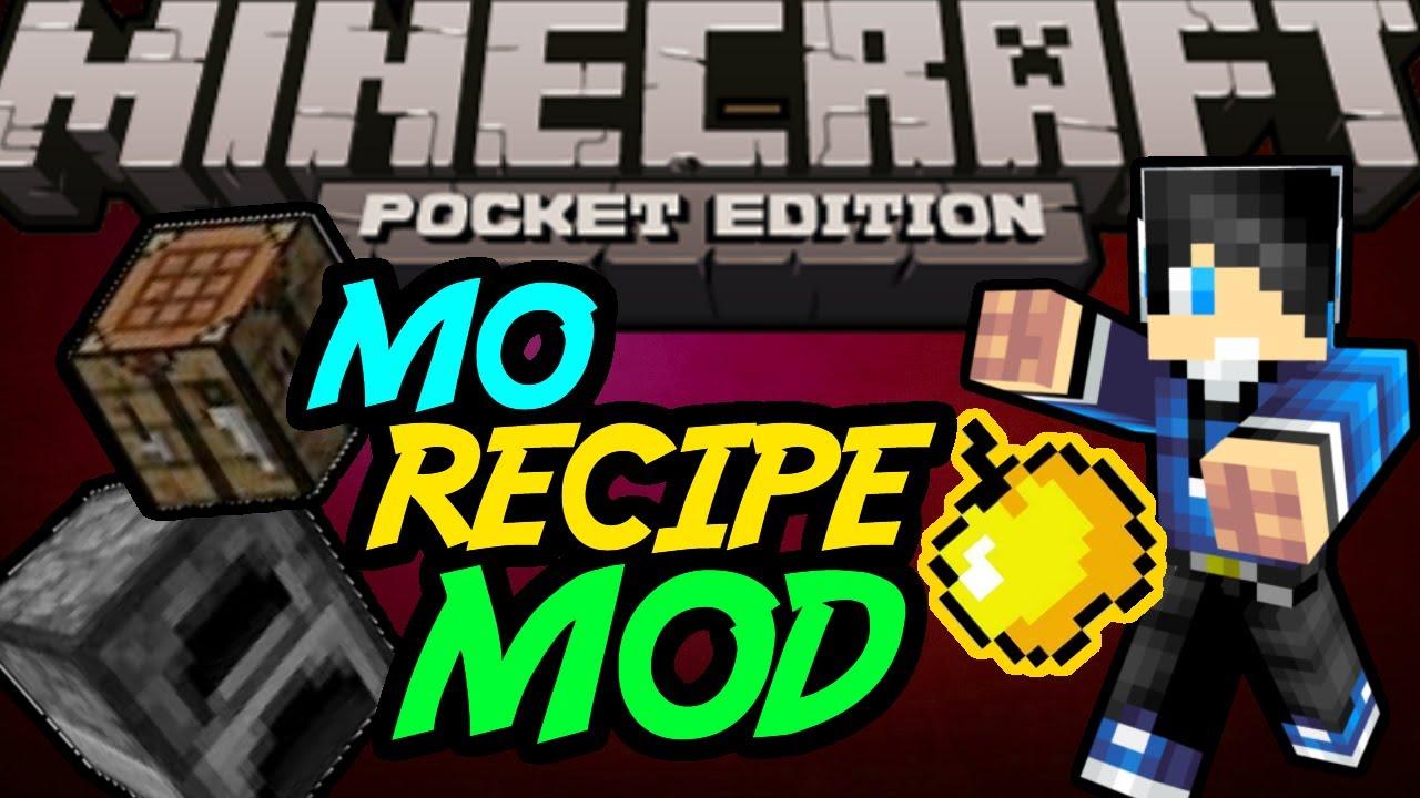 Мод на рецепты для Minecraft PE 0.8.1