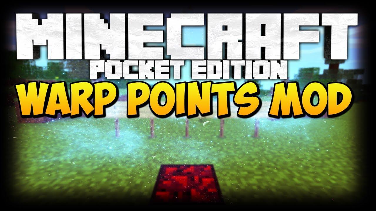 Мод «Warp Points» — телепортация в MCPE