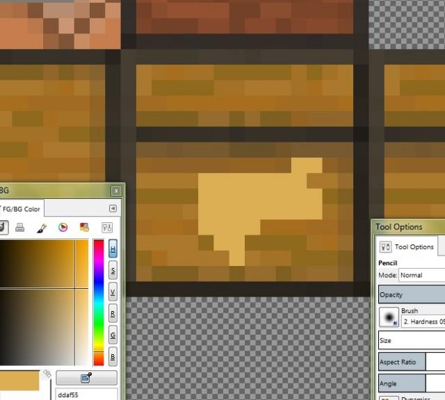 Как создать свой собственный текстурпак для Minecraft PE, используя Gimp