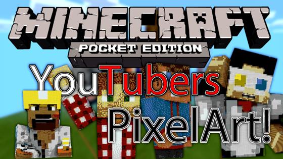 Пиксель-арт от известных Ютуберов