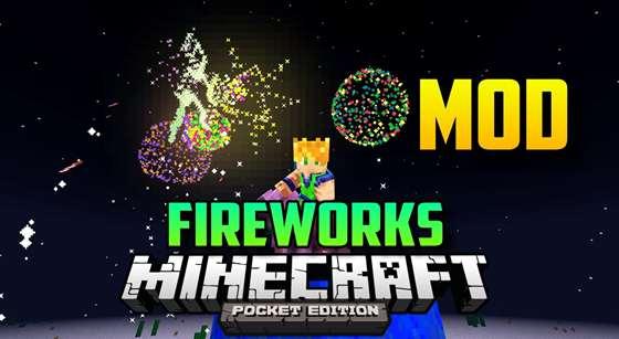 Мод Fireworks — фейерверки со звуком в MCPE! [0.9.5]