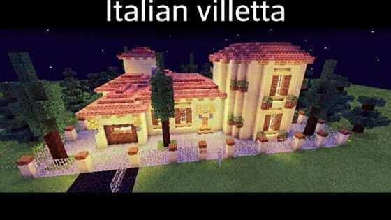 Постройка в Майнкрафт ПЕ Italian Villetta [0.10.0]